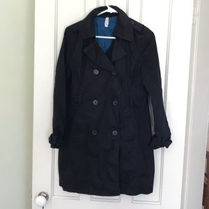 Old Navy Petite Black Trench Coat